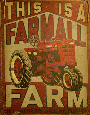 Photograph - 1950's Farmall Tractor by B Wayne Mullins