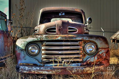 Photograph - 1950's Ford Grille by Tony Baca