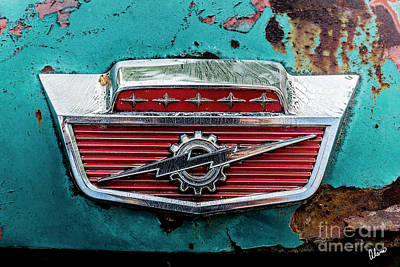 Photograph - 1960's Ford Lightning Emblem by Alana Ranney