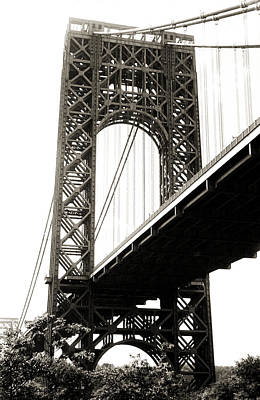 Politicians Royalty-Free and Rights-Managed Images - George Washington Bridge 1950 by Marilyn Hunt
