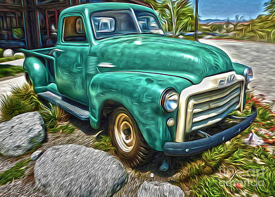 Art Print featuring the painting 1950s Gmc Truck by Gregory Dyer