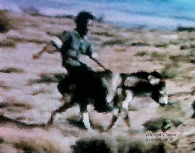 Donkey Digital Art - 1950's - Having A Blast by Lenore Senior