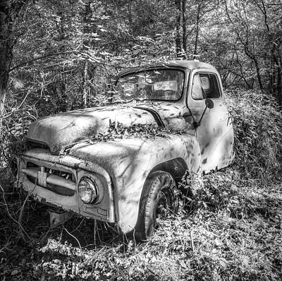 Photograph - 1950s International Pickup Truck In Black And White by Debra and Dave Vanderlaan