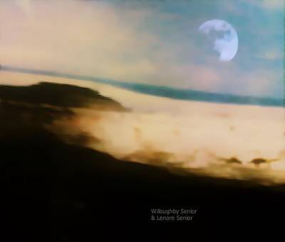 Digital Art - 1950's - Moon On The Mesa by Lenore Senior and Willoughby Senior