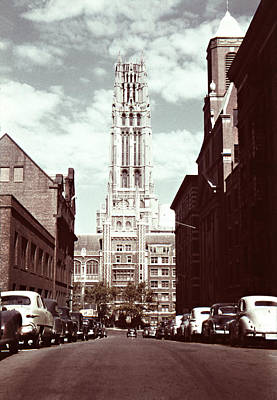 Photograph - 1950s Riverside Church New York by Marilyn Hunt
