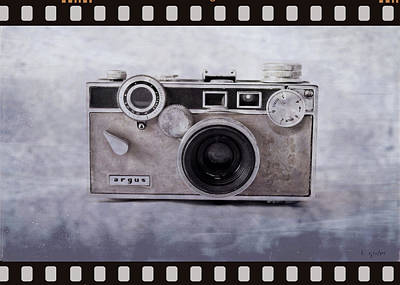 Photograph - 1950's Vintage Argus Camera With Filmstrip Border by Tony Grider