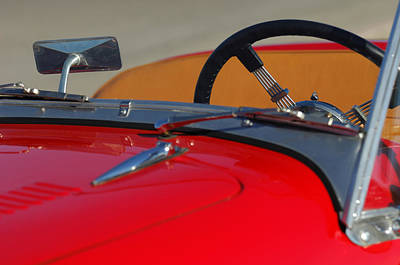 Photograph - 1951 Allard K2 Roadster Steering Wheel by Jill Reger