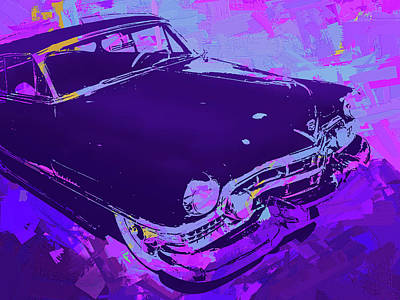 Digital Art - 1951 Cadillac Pop Violet by David King