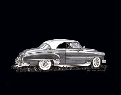 Painting - 1951 Chevrolet Bel Air by Jack Pumphrey