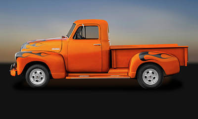 Photograph - 1951 Chevrolet Pickup Truck  -  1951chevtrk9750 by Frank J Benz