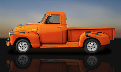 Photograph - 1951 Chevrolet Pickup Truck  -  51chevyreflect9750 by Frank J Benz