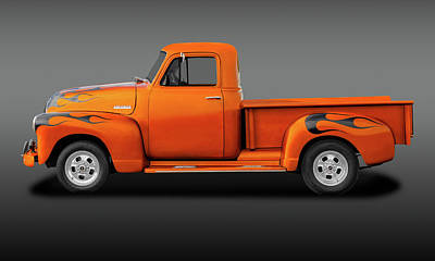 Photograph - 1951 Chevrolet Pickup Truck  -  51chevytrkfa9750 by Frank J Benz