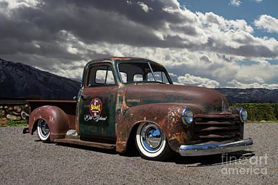 Chev Pickup Photograph - 1951 Chevrolet Pickup Truck by Nick Gray