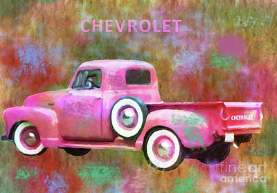 Mixed Media - 1951 Chevrolet Truck Custom by David Millenheft
