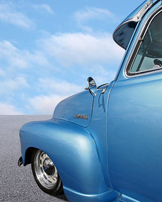Photograph - 1951 Chevy Truck Blue Sky Day by Gill Billington