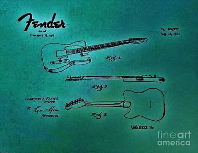 1951 Fender Guitar Patent - Glow Original