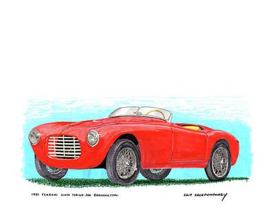 Painting - 1951 Ferrari 212 Barchettas  by Jack Pumphrey