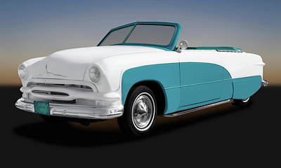Photograph - 1951 Ford Convertible  -  51convertibleford173480 by Frank J Benz