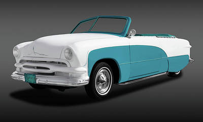 Photograph - 1951 Ford Convertible  -  51convertiblefordfina173480 by Frank J Benz