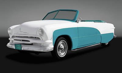 Photograph - 1951 Ford Convertible  -  51convertiblefordgry173480 by Frank J Benz