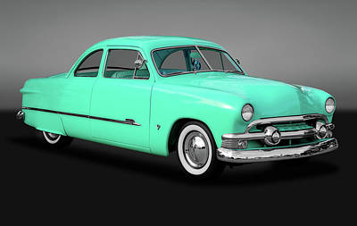Photograph - 1951 Ford Custom Business Coupe  -  1951fordshoeboxcustomgry170652 by Frank J Benz