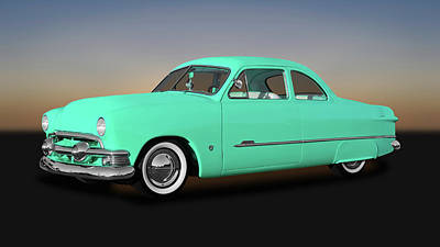 Photograph - 1951 Ford Custom Business Coupe  -  51fdbuscpe9846 by Frank J Benz
