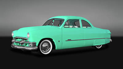 Photograph - 1951 Ford Custom Business Coupe  -  51fordcpegry9846 by Frank J Benz