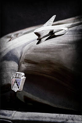 1951 Ford Custom Tudor Sedan Hood Ornament - Emblem -0312ac Print by Jill Reger