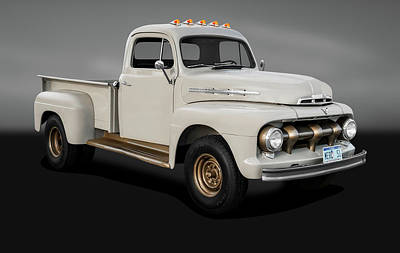 Photograph - 1951 Ford Mercury M3 Pickup Truck  -  1951m3mercurypickupgray184369 by Frank J Benz