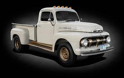 Photograph - 1951 Ford Mercury M3 Pickup Truck  -  1951mercurym3trkspttext184369 by Frank J Benz