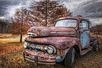 Antique Tow-truck Photograph - 1951 Ford Truck by Debra and Dave Vanderlaan