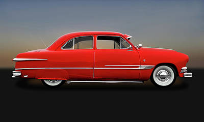 Photograph - 1951 Ford Tudor Sedan  -  1951fdtudorsed9445 by Frank J Benz