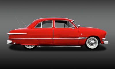 Photograph - 1951 Ford Tudor Sedan  -  1951fordtudorsedfa9445 by Frank J Benz
