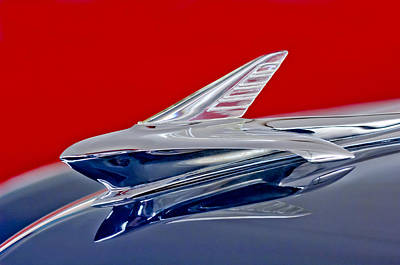 Hoodies Photograph - 1951 Ford Woodie Hood Ornament by Jill Reger