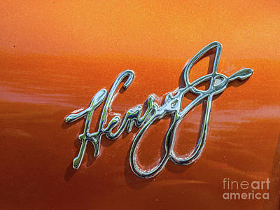 Photograph - 1951 Henry J Emblem by Tony Baca