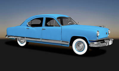 Photograph - 1951 Kaiser Frazer Deluxe 4 Door Sedan  -  1951kaiserfrazersedan173316 by Frank J Benz