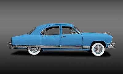 Photograph - 1951 Kaiser Frazer Deluxe 4 Door Sedan  -  1951kaiserfrazersedfa173320 by Frank J Benz