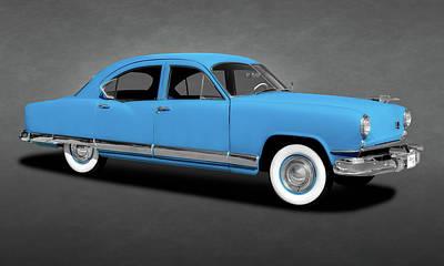 Photograph - 1951 Kaiser Frazer Deluxe 4 Door Sedan  -  1951kaiserfrazersedtext173316 by Frank J Benz