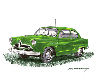 1951 Kaiser Henry J  Art Print by Jack Pumphrey