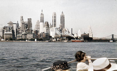 Photograph - 1951 Lower Manhattan New York Skyline by Marilyn Hunt