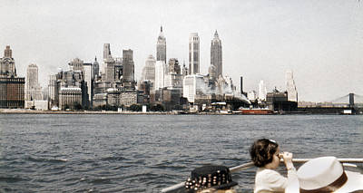 Photograph - 1951 Lower Manhattan Ny Skyline Vintage by Marilyn Hunt