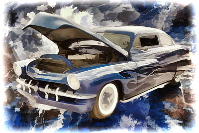 Painting - 1951 Mercury Classic Car Painting 025.02 by M K Miller
