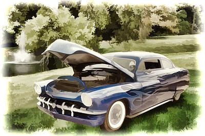 Painting - 1951 Mercury Classic Car Painting 027.02 by M K Miller