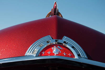 Photograph - 1951 Mercury Head Badge by Chris Flees