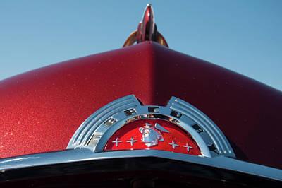 Photograph - 1951 Mercury Head Badge by Chris Flees