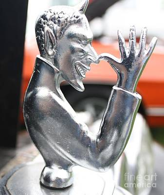 Photograph - 1951 Mg Speed Demon Hood Ornament by John Telfer