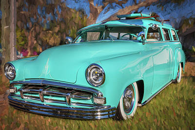 Photograph - 1951 Plymouth Suburban 2 Door Station Wagon 001 by Rich Franco