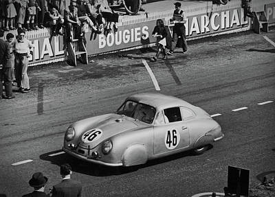 Photograph - 1951 Porsche Winning At Le Mans  by Doc Braham