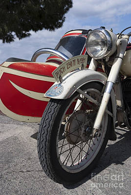 Motorcycle Painting - 1951 Puch 250 Tf Bj by George Atsametakis