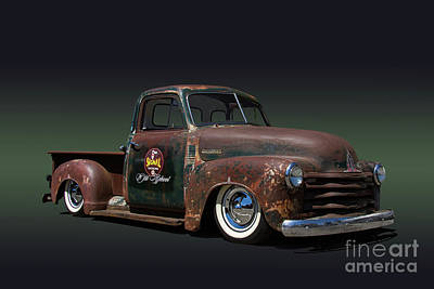 Chev Pickup Photograph - 1951 Rusty Chevrolet Pickup Truck by Nick Gray
